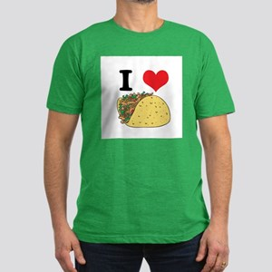 I Heart (Love) Tacos Men's Fitted T-Shirt (dark)
