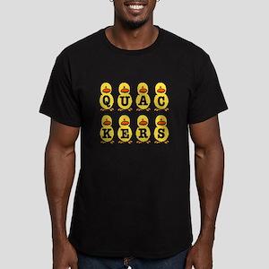 Quackers Ducks Men's Fitted T-Shirt (dark)