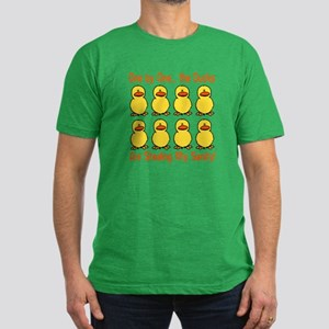 Ducks Stealing My Sanity Men's Fitted T-Shirt (dar