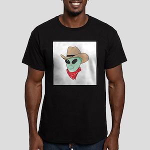 Cowboy Alien Men's Fitted T-Shirt (dark)