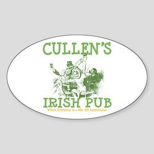 Cullen's Irish Pub Personalized Oval Sticker