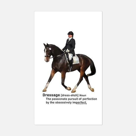 Dressage Horse Dictionary Sticker (Rectangle)