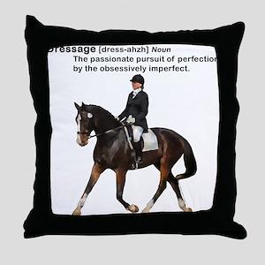 Dressage Horse Dictionary Throw Pillow