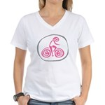 Pedal Clan Women's V-Neck T-Shirt