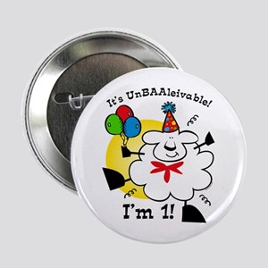 "UnBAAlievable Sheep 1st Birthday 2.25"" Button"