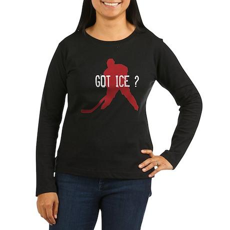 Got Ice? Women's Long Sleeve Dark T-Shirt