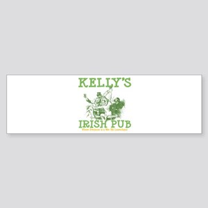 Kelly's Irish Pub Personalized Bumper Sticker