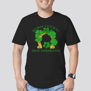 Born Lucky on St. Pats Day Men's Fitted T-Shirt (d
