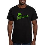 IRELAND with Shamrock Men's Fitted T-Shirt (dark)