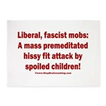 Liberal mobs 5'x7'Area Rug