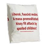 Liberal mobs Burlap Throw Pillow