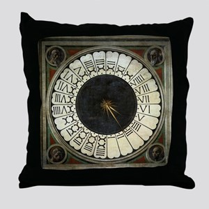Clock in the Duomo by Uccello Throw Pillow