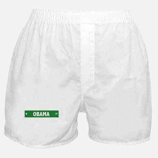 Obama Street Sign Boxer Shorts