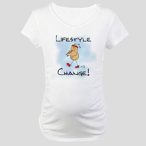 Peanut Lifestyle Change Maternity T-Shirt