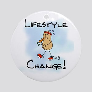 Peanut Lifestyle Change Ornament (Round)