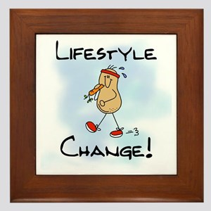 Peanut Lifestyle Change Framed Tile