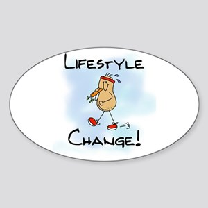 Peanut Lifestyle Change Oval Sticker