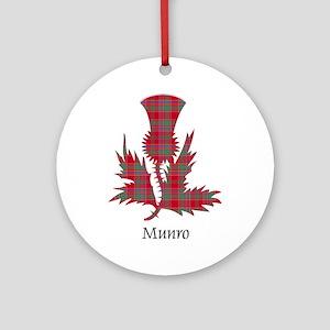 Thistle-Munro Round Ornament