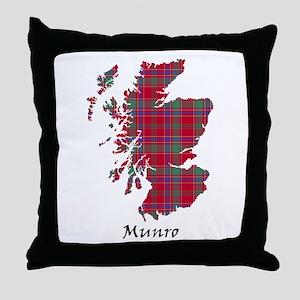 Map-Munro Throw Pillow