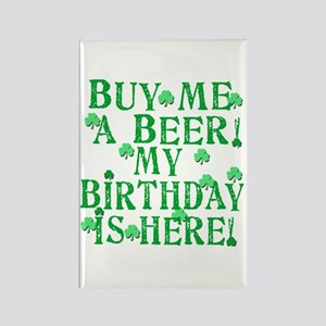 Buy Me a Beer Irish Birthday Rectangle Magnet