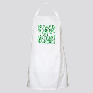 Buy Me a Beer Irish Birthday Apron