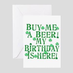 Irish happy birthday greeting cards cafepress buy me a beer irish birthday greeting cards pk of m4hsunfo