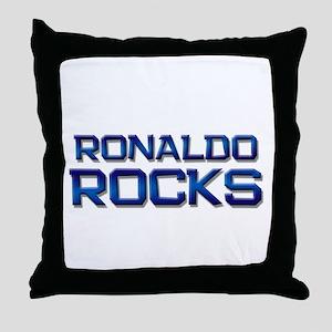 ronaldo rocks Throw Pillow