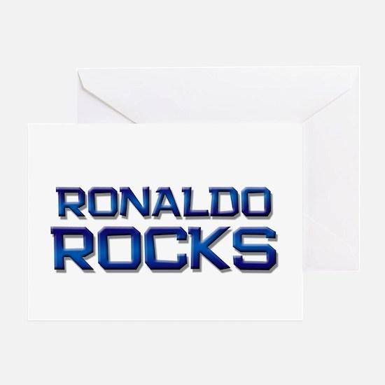 ronaldo rocks Greeting Card