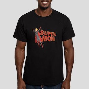 Super Mom Men's Fitted T-Shirt (dark)
