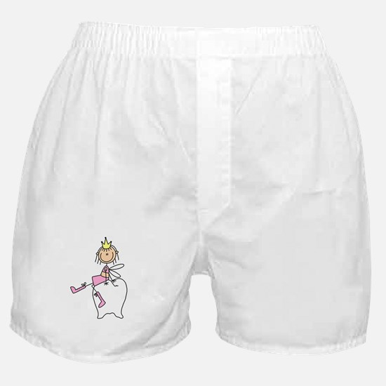 Tooth Fairy on Tooth Boxer Shorts