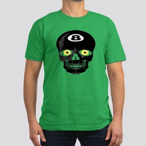 Eight Ball Skull Men's Fitted T-Shirt (dark)