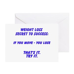 Weight loss greeting cards cafepress m4hsunfo