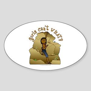 Dark Rock Climber Oval Sticker