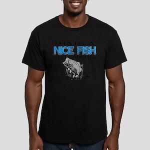 Nice Fish Men's Fitted T-Shirt (dark)