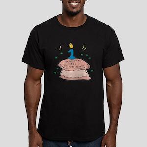 Happy 1st Birthday Men's Fitted T-Shirt (dark)