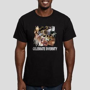 Celebrate Diversity Men's Fitted T-Shirt (dark)