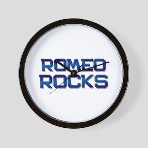 romeo rocks Wall Clock
