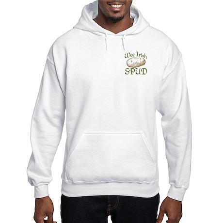 Two Sides Printed Hooded Sweatshirt