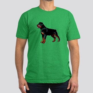 Rottweiler Men's Fitted T-Shirt (dark)