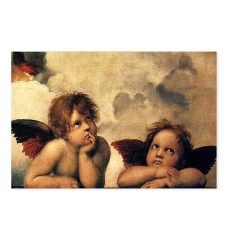 Angels by Raphael Postcards (Package of 8)