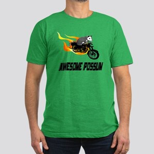 Flaming Awesome Possum Men's Fitted T-Shirt (dark)