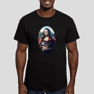 Mona Lisa Possum Men's Fitted T-Shirt (dark)