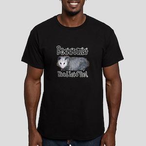 Possums Need Love Men's Fitted T-Shirt (dark)