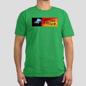 Flying Awesome Possum Men's Fitted T-Shirt (dark)