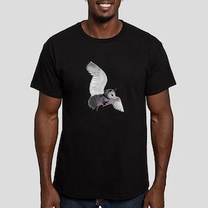 Angel Possum Men's Fitted T-Shirt (dark)