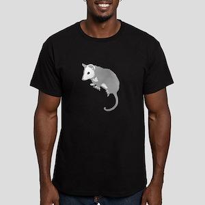 Possum Silhouette Men's Fitted T-Shirt (dark)