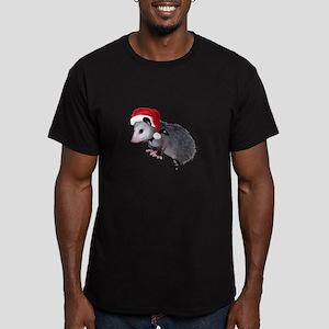 Santa Possum Men's Fitted T-Shirt (dark)