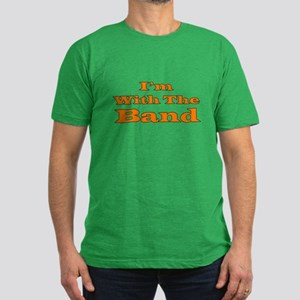 I'm With the Band - Orange/Bl Men's Fitted T-Shirt