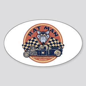 Rat Man Oval Sticker