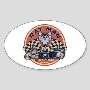 Rat Man Oval Sticker